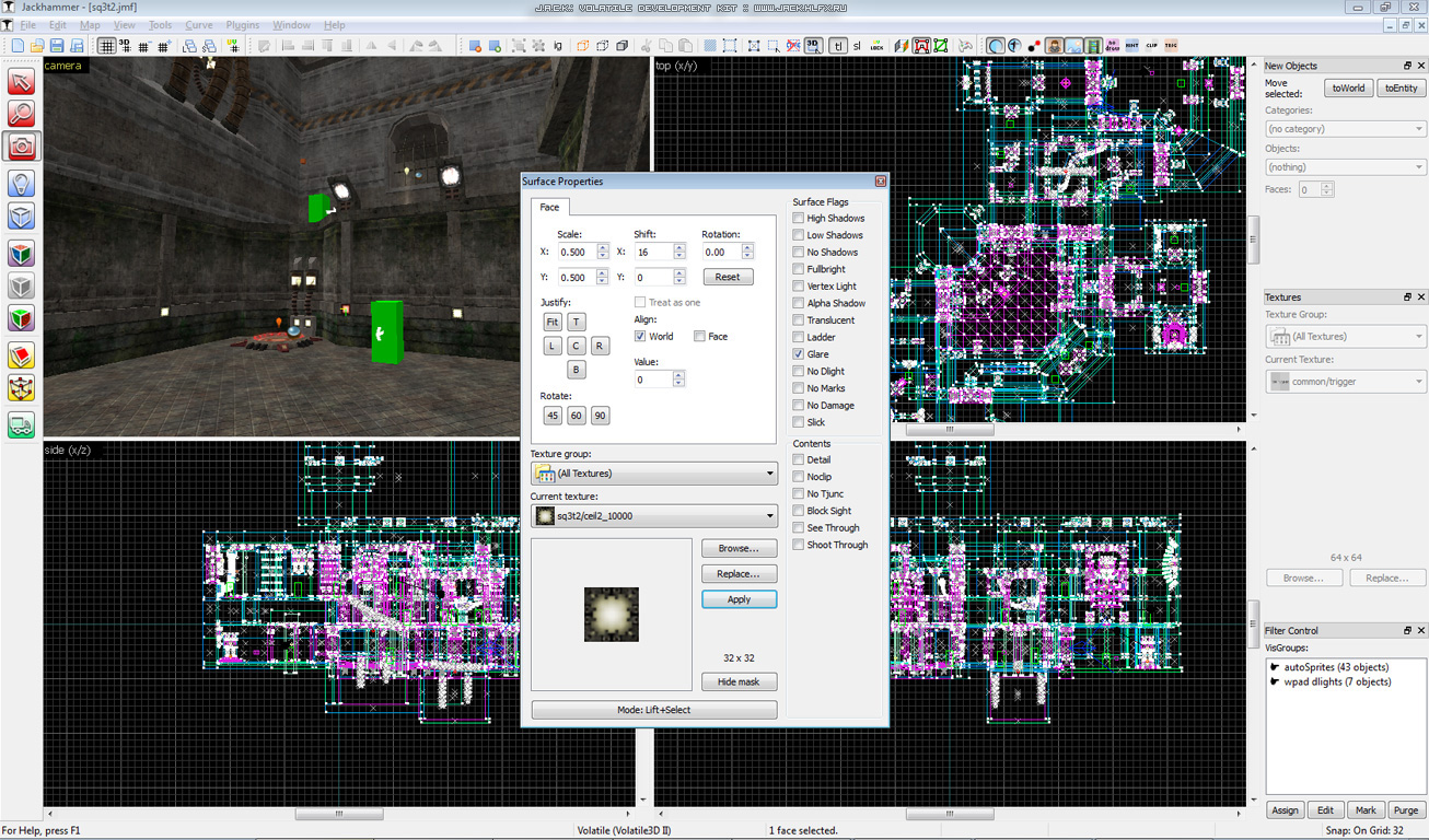 J A C K  Level Editor - Crystice Softworks